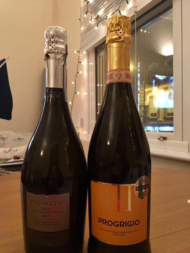 progrigio and prosecco